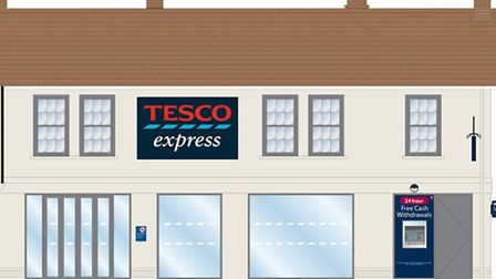 An architect's impression of the new Tesco Express in Norwich Road.