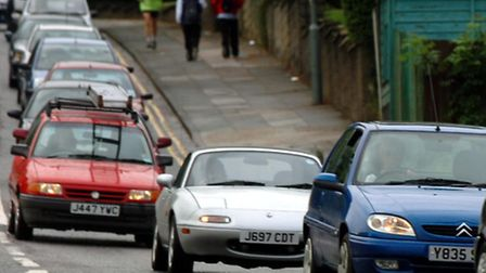 Traffic queues are not uncommon on Bishop's Hill