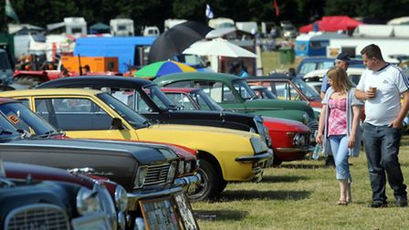 The classic vehicle show at Melford Hall, Long Melford.