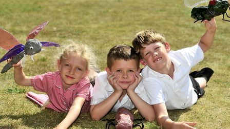 Pupils from Snape School get ready for an exhibition of their Mini Beast Sculptures