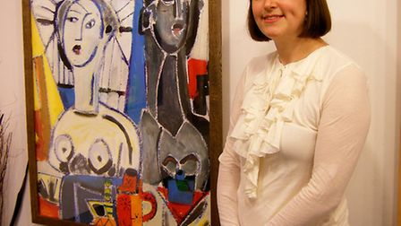 Suffolk-based artist Naomi Munuo whose latest exhibition is currently on show at the John Russell Ga