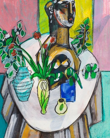 Still Life on Oval Table by Naomi Munuo