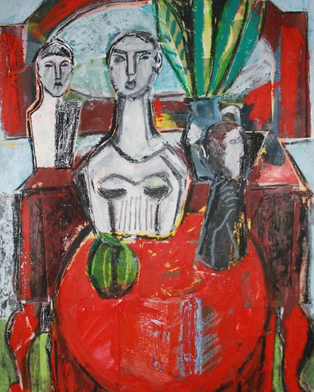 Red Table Covering by Naomi Munuo