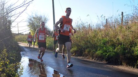 The Hadleigh 10 running race meanders its way through the countryside.
