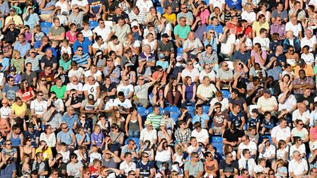 Fans watch the game against Tottenham