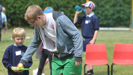 Dennington and Charsfield Primary Schoolsjoined forces for a fun packed sports day.