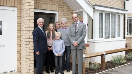 Duke of Kent with the Heritage family at their new home in Applegate Mews