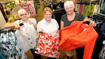 New Baldwins store in Tower Ramparts, Ipswich. Left to right, Sue Williams, Ann Stokes, Liz Standing