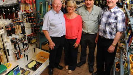 John and Julie Maskell of Larter and Fords with Carl Edwards and Julian Mason who have bought the