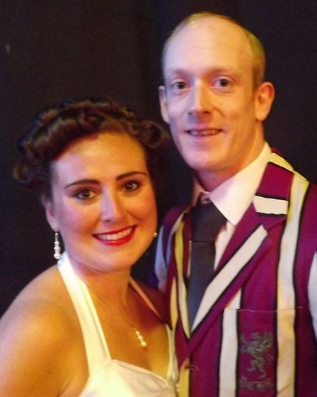 Hope Harcourt (Rebecca Han-De-Beaux) and Billy Crocker (Darren Scriven) in the Company of Four's Any
