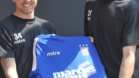 Ipswich Town new boys Paul Anderson and Cole Skuse.