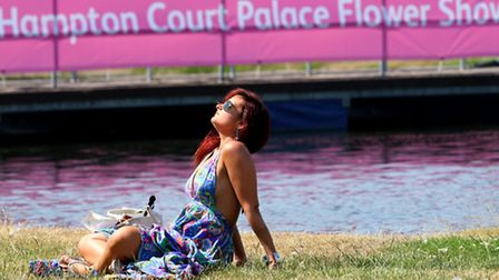 Soaking up the sun at the RHS Hampton Court Palace Flower Show
