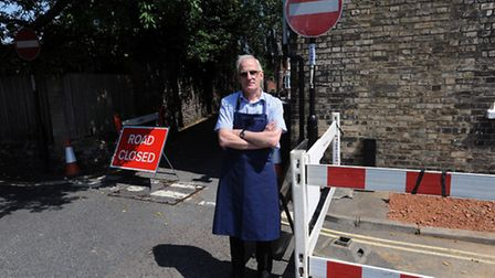 Brian Curry is angered that Cadney Lane in Bury remains closed after repairs in Cannon Street. Brian
