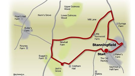 Route of the super Stanningfield walk