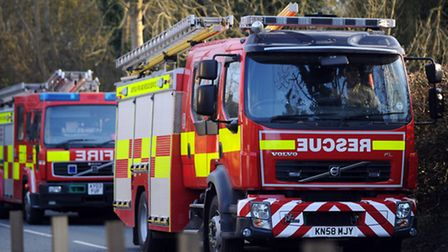 Firefighters have tackled an ambulance fire
