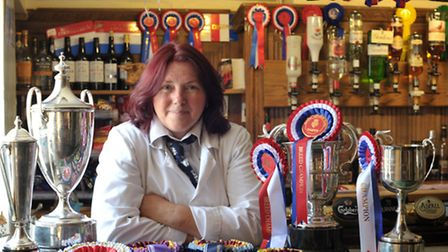 The Crown at Snape has had a very successful year at various country shows. Teresa Cook with some o