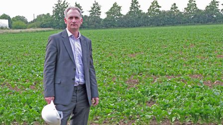 Dr Andrew Toft, director of projects at Eco2 Ltd, at the site the company is looking to develop