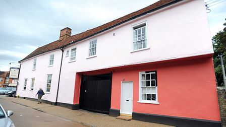 Angel Hotel in Lavenham has been painted in the wrong shade of pink and will now have to be repainte