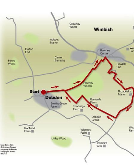 Route of the woodland wander walk
