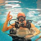 Commercial diver Jeff Errington is still going strong at the age of 70.