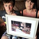 Joanne Louis and her son Haydn of Crowfield who were victims of burglary. Joanne's late son Rhys Lor