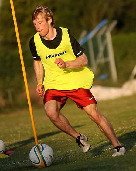 New team, Leiston FC Under 21s preparing for their new Ryman League Reserve season. Pictured is Jame