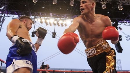 Anthony Ogogo in action with Gary Boulden