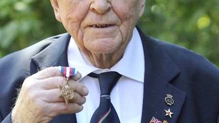 Former Merchant Navy radio officer Richard Fearnside, of Langham, received an Arctic Star 71 years a