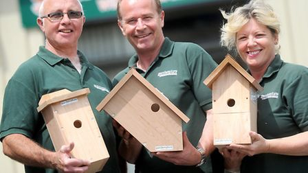 Business feature on Gardenature and their nest box camera systems. Left to right, Brian Robinson (ca