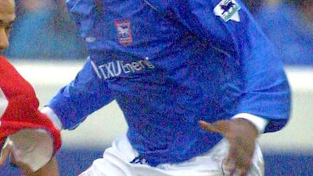 Titus Bramble pictured in his first spell for Ipswich Town