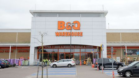 The B&Q store on the Euro Retail Park in Ipswich.