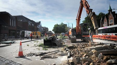 Work has begun at the Tower Ramparts bus station in Ipswich.
