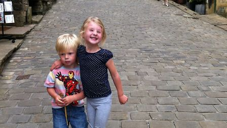 Ellen's children in Haworth, West Yorkshire, famously home to the Bronte sisters.
