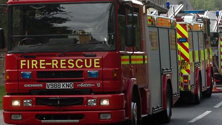 Firefighters freed one person from the incident in Colchester Road at around 8.40pm today.