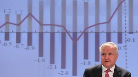 European Commissioner for Economic and Monetary Affairs Olli Rehn addressing the media at the Europe
