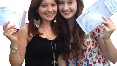 Emila Danielsson-Waters and Laura White with their outstanding A-level resultslast summer.