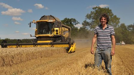 Suffolk farmers are hard at work on their combine harvesters around the clock harvesting the fields