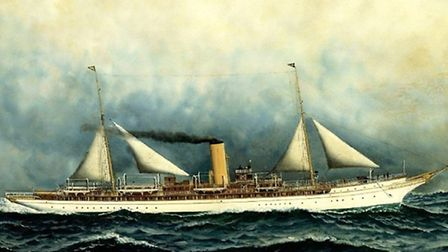Steam yacht Atalanta which was formerly known as the Lorena