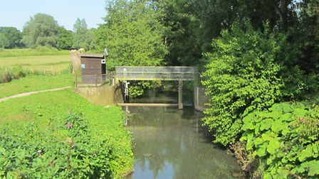 The site of one of five locks on the River Blyth Navigation, Wenhaston