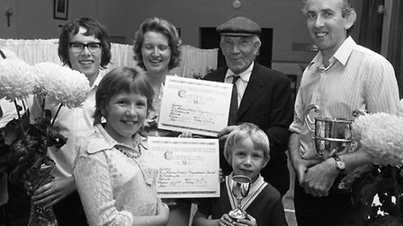 Prize winners at the West Bergholt Show August 1973