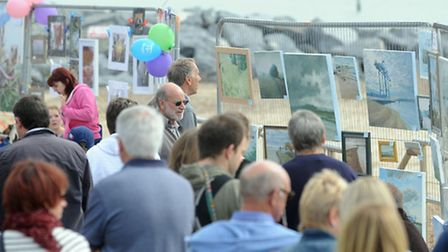 The Art on the Prom exhibition in Felixstowe.
