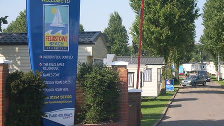 Felixstowe Beach holiday park - the site has been suggested for homes.