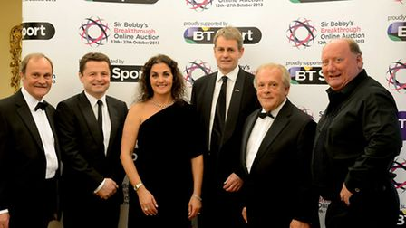 Sir Bobby's Breakthrough Online Auction Launch at the PFA Awards dinner in London. Mick Mills, Chris