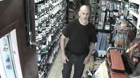 Police are issuing CCTV images of a man they are trying to trace in relation to a theft from a shop