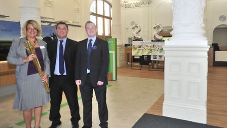 Lloyds TSB Cornhill Branch, Ipswich re-opening following a revamp Jayne Rowley-Evans, Perry Bettis