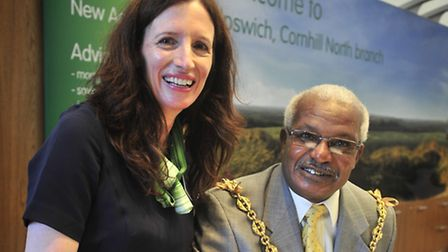 Lloyds TSB Cornhill Branch, Ipswich re-opening following a revamp Sue Bevan and Hamil Clarke