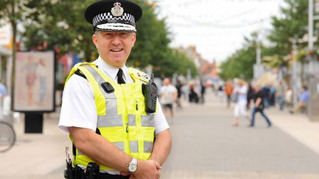 Suffolk chief constable, Douglas Paxton, on a recent visit to Lowestoft