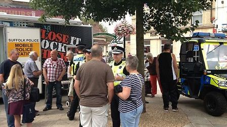 Chief Constable Douglas Paxton hosted his third 'Chief on Tour' event in Stowmarket.