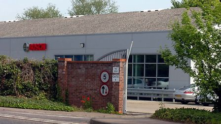 The Bosch factory in Stowmarket.