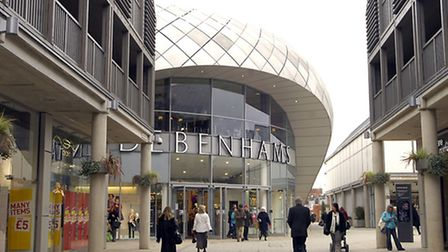 The Arc shopping centre in Bury St Edmunds